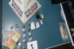Manhuaçu: Dois menores apreendidos e um preso acusados de tráfico de drogas