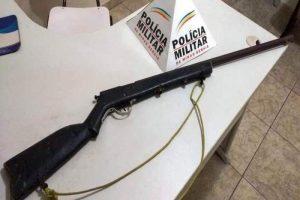 Matipó: Espingarda é apreendida após ameaças de morte