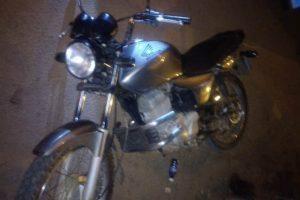 PM recupera motocicleta furtada com menor