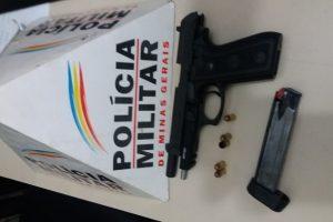 Manhuaçu: PM apreende arma de fogo no bairro Alfa Sul