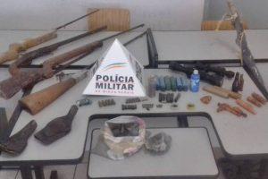 PM apreende munições e armas em Espera Feliz