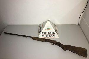 Simonésia: Patrulha Rural da PM apreende arma de fogo