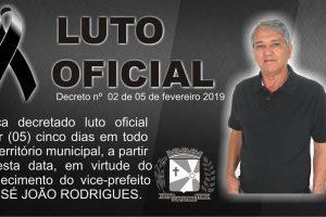 Caputira está de luto pela morte do vice-prefeito do município