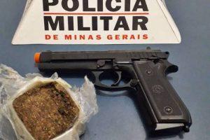 Maconha e pistola airsoft apreendidas em Simonésia