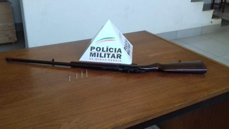 Abre Campo: PM Apreende arma de fogo