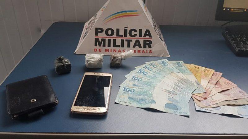 Manhuaçu: PM prende foragido da justiça e apreende drogas