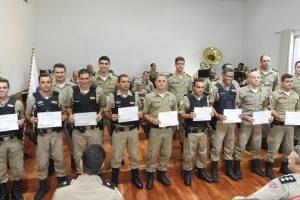 Manhuaçu: 11º Batalhão da Polícia Militar presta homenagem aos destaques do 2º semestre de 2018