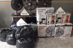 Polícia recupera parte de produtos saqueados na região