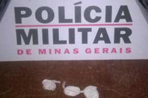 Cocaína apreendida em Abre Campo