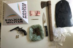 Matipó: PM desencadeia operação e apreende 4 armas de fogo e drogas