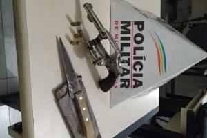 PM apreende arma de fogo utilizada em um homicídio tentado em Santo Amaro de Minas