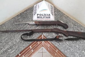 Caputira: Duas armas são apreendidas na zona rural