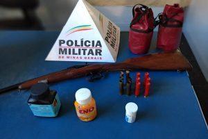 Manhuaçu: Espingarda cartucheira é apreendida no Bairro Petrina