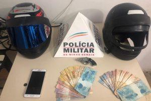 Manhuaçu: PM prende e apreende indivíduos envolvidos em roubo e tráfico de drogas