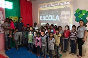 Vereador Administrador Rodrigo leva projeto à Escola Zeca Bulinga