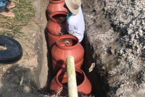 Manhuaçu: Fossas sépticas são instaladas em Santo Amaro de Minas