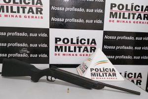PM apreende arma de fogo em Ipanema