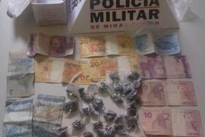 PM apreende drogas em Matipó