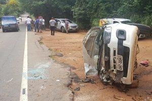 Acidente envolve três veículos na MG-111 entre Reduto e Manhumirim