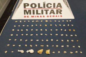 Manhuaçu: 93 pedras de crack apreendidas no Bairro Matinha