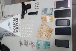 Polícia Militar apreende drogas e arma no bairro Petrina