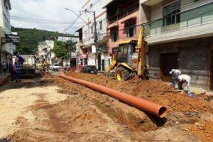 SAAE realiza obra na Rua Antônio Wellerson. Trânsito interditado até segunda-feira
