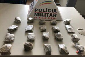 Manhuaçu: 20 tabletes de maconha e relógios são apreendidos no Santa Terezinha