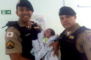 Bebê é salvo em ação rápida da PM