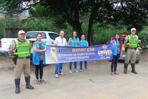 Manhuaçu: Agentes de saúde e PM realizam ações na abertura do Maio Amarelo