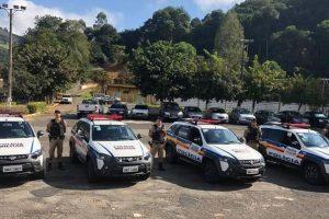 Polícia Militar recebe diversas viaturas em Manhuaçu e região