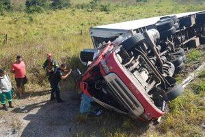 Região: Motorista morre em acidente na BR 116