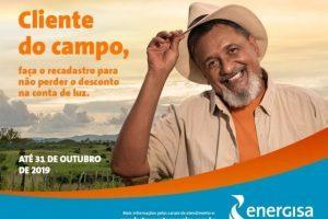Governo Federal e Aneel convocam classe rural para atualização de cadastro com a Energisa