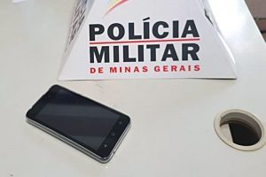 Celular roubado é recuperado pela PM no Centro de Manhuaçu