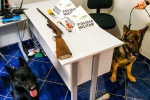 Durandé: Espingarda e munições apreendidas na zona rural