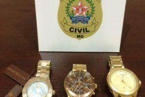 Relógios furtados em Joalheria são recuperados. Uma pessoa foi presa