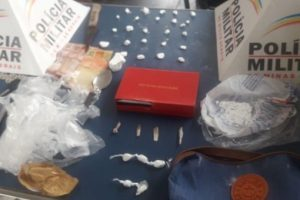 Manhuaçu: PM prende autor de tráfico de drogas e corrupção de menores