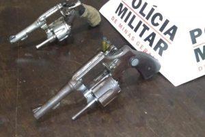 Região: Dois revólveres e drogas são apreendidos pela Polícia Militar