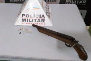 Manhumirim: PM apreende mais uma arma de fogo