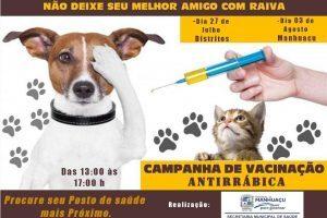 Manhuaçu: DIA D para os cães e gatos será neste sábado