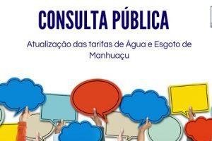 CONSULTA PÚBLICA: Atualização das Tarifas de Água e Esgoto de Manhuaçu