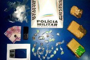 Manhuaçu: 35 buchas de maconha apreendidas no Engenho da Serra