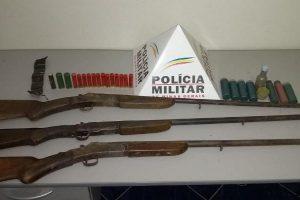 Durandé: Três armas de fogo apreendidas pela PM