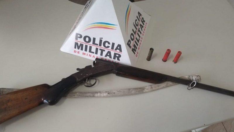 Luisburgo: PM apreende arma de fogo na zona rural
