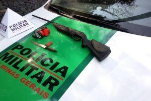 Manhuaçu: PM de Meio Ambiente apreende arma de fogo