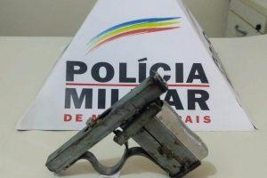 Chalé: PM apreende arma de fogo no Bairro Floresta