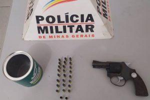 Simonésia: PM prende homem que disparou arma de fogo em  via pública