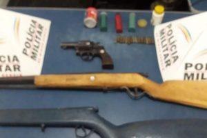 Manhuaçu: Armas de fogo e munições apreendidas pela PM