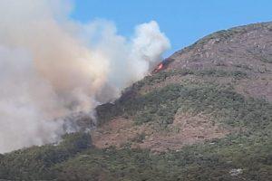 Incêndio está controlado no Parque Nacional do Caparaó. 67,4 hectares queimados