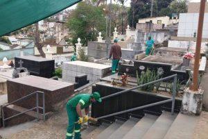 SAMAL inicia limpeza do cemitério em preparação ao Dia de Finados