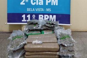 Morador de Manhuaçu é preso transportando 12 quilos de drogas no MS